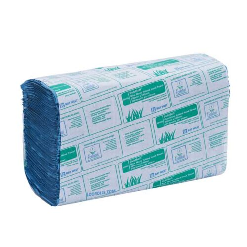 Microfold Paper Hand Towels 1ply Blue