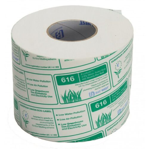 Bay West Ecosoft Toilet Tissue Rolls 625 sheets