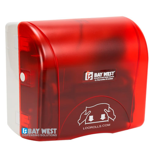 Bay West Accent Hand Towel Dispenser Red