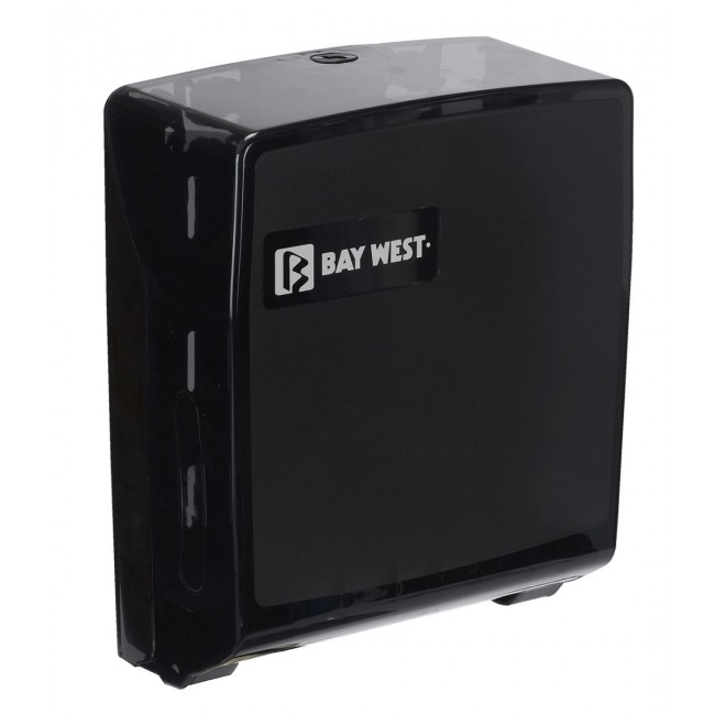 Bay West Microfold Hand Towel Dispenser Black Bay West Uk