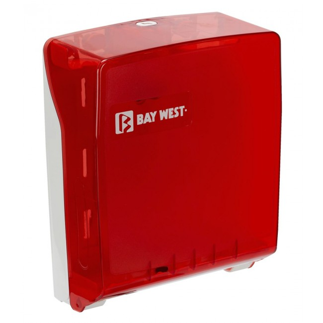 Bay West Microfold Hand Towel Dispenser - red