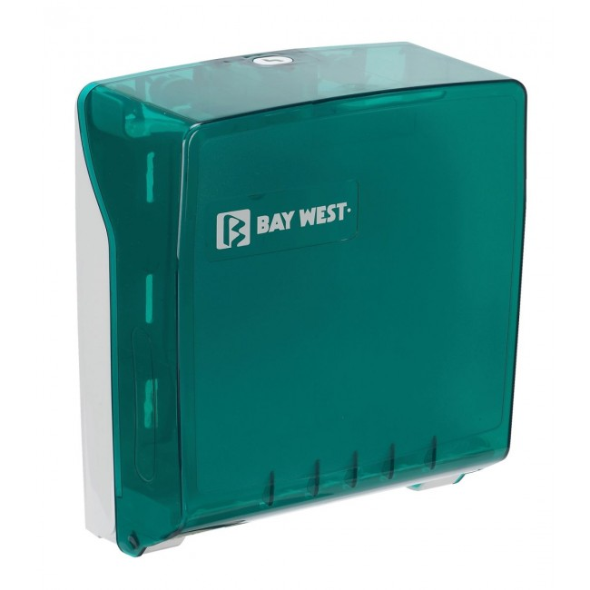 Bay West Microfold Hand Towel Dispenser - Green