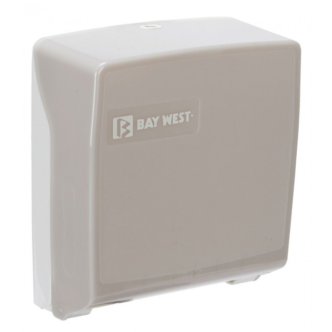 Bay West Microfold Hand Towel Dispenser - White
