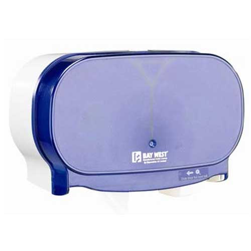 Dubl-Serv Side By Side Toilet Roll Dispenser Blue