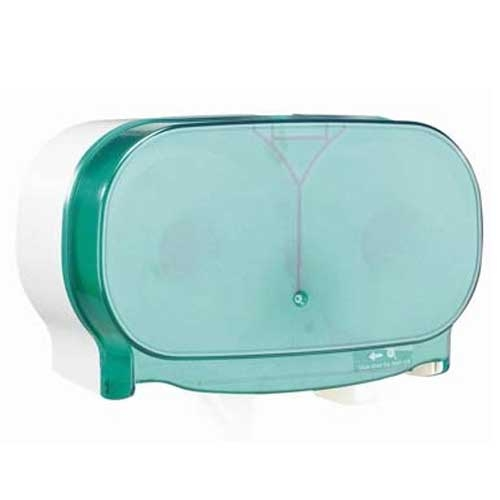 Dubl-Serv Side By Side Toilet Roll Dispenser Green