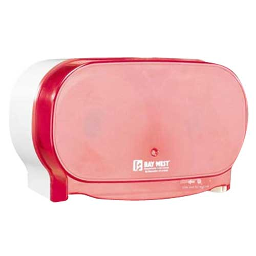 Dubl-Serv Side By Side Toilet Roll Dispenser Red