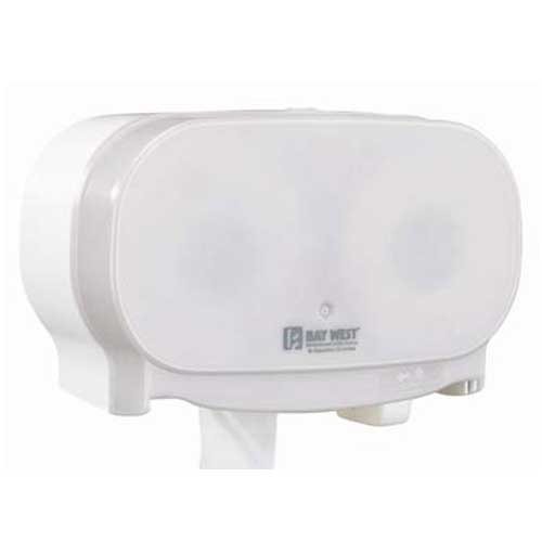 Dubl-Serv Side By Side Toilet Roll Dispenser White