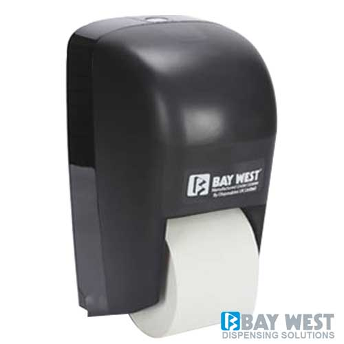 Dubl-Serv Vertical Toilet Roll Dispenser Black