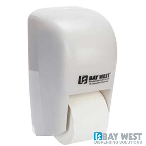 Dubl-Serv Vertical Toilet Roll Dispenser White