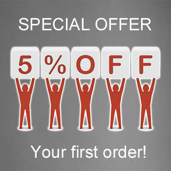 special offer with your first order of Bay west