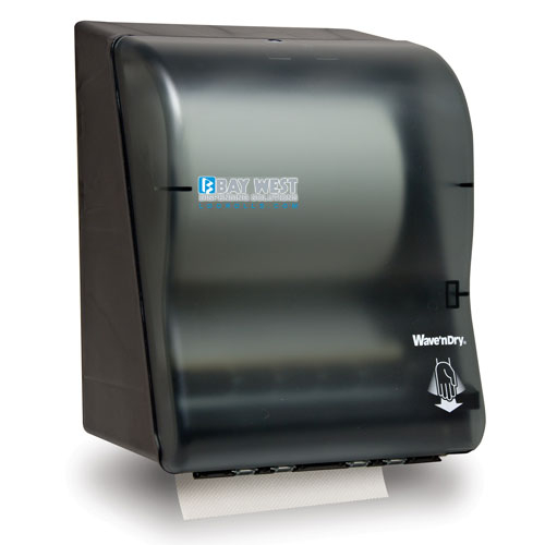 Opti-Serv Wave n Dry Dispenser black