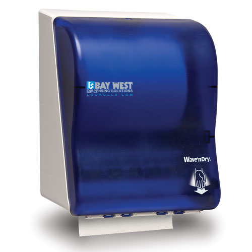 Opti-Serv Wave n Dry Dispenser Blue