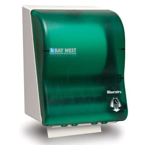 Opti-Serv Wave n Dry Dispenser Green