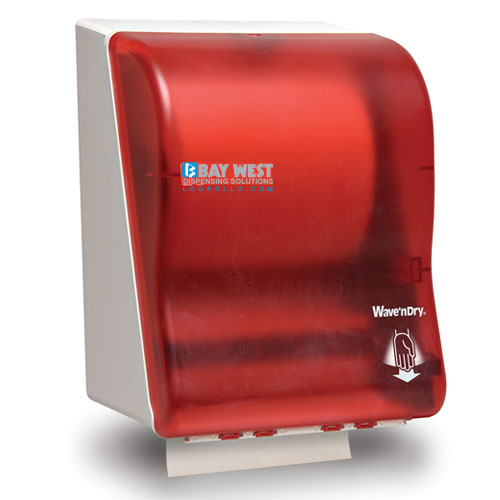 Opti-Serv Wave n Dry Dispenser Red