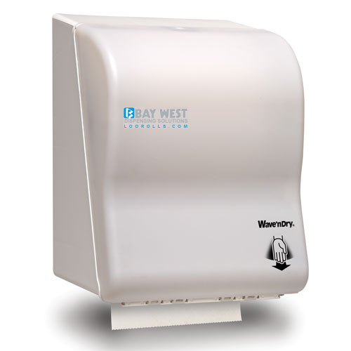 Automatic Hand Towel Dispenser Opti-Serv Wave n Dry Dispenser White