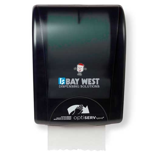 Opti-Serv Hybrid Hand Towel Dispenser Black