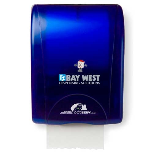 Opti-Serv Hybrid Hand Towel Dispenser Blue