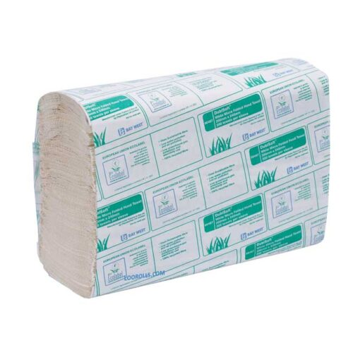 Bay West Paper Hand Towel | Microfold Z Fold 1ply White 00487